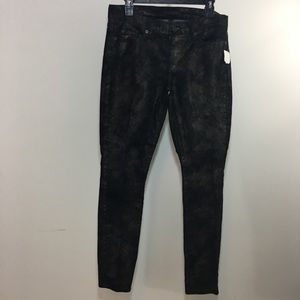 New 7 for all mankind skinny coated black jeans 30